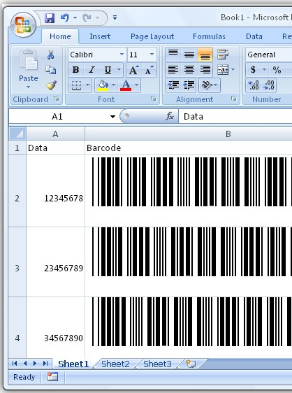 TechnoRiver Barcode Font with Excel
