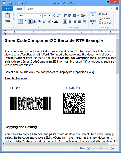 Click to view SmartCodeComponent2D Barcode screenshots