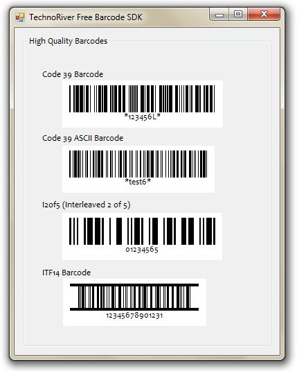 Technoriver Free Barcode SDK full screenshot