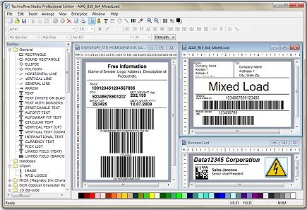 barcode software, barcode, bar code, label, label maker, id card, business card,